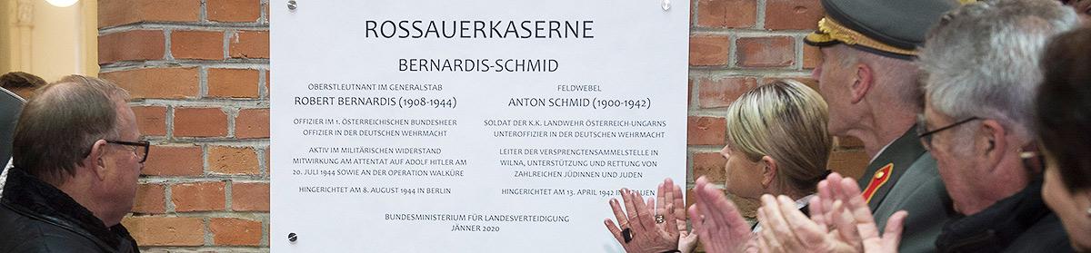 """Sliderbild Enthüllung Gedenktafel """"Bernardis-Schmid"""", 1090 Wien, Wien"""