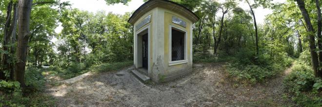 Dreikaiserhaus beim Truppenübungsplatz Bruck Neudorf